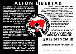 Solidarité avec Alfon, antifasciste et gréviste !