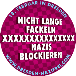 Appel à la mobilisation pour bloquer le rassemblement néo-nazi dans la ville de Dresde