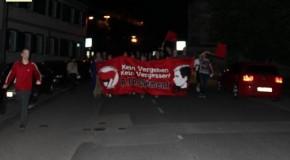 Esslingen (Allemagne) : marche pour Clément