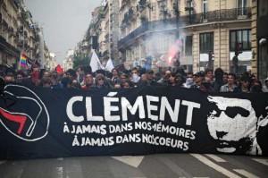Manif pour Clément Paris 23 juin 2013