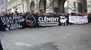 Paris : photos de la manifestation du 23 juin pour Clément