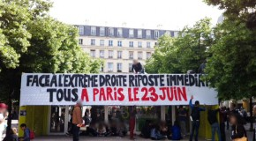 Paris : actions contre l'extrême droite (photo)