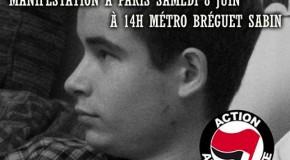 Pour mémoire : retour sur la manif en hommage à Clément le 7 juin 2013 (photos)