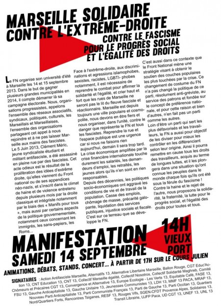 tract marseille solidaire