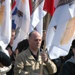 L'avocat Pierre-Marie Bonneau dans le cortège des Jeunesses nationalistes en mai 2012.