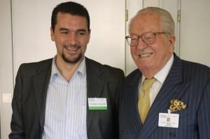 Omar Djellil et son grand copain Jean-Marie Le Pen.