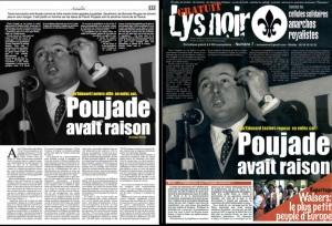 """À gauche, la page 11 de Bonnet Rouge, à droite, la """"une"""" du Lys Noir : comme un petit air de famille…"""