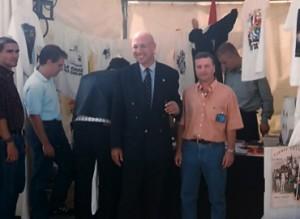 Christian Bouchet (le chauve) et à droite