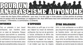 Pour un antifascisme autonome (tract La Horde)