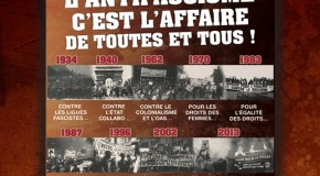 Vidéo d'appel à la manif antifa du 9 février à Paris