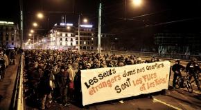 Suisse : manif contre l'UDC à Genève