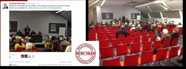 Plus d'infos sur le site des Debunkers ici : http://www.debunkersdehoax.org/le-fn-bricole-les-prises-de-vue-de-ses-reunions