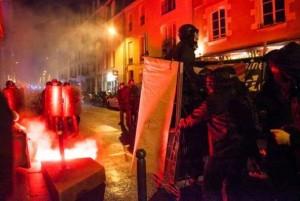 Résistance antifasciste à Rennes le 8 février 2014.