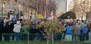 Manifestation islamophobe à Paris, Place d'Italie.