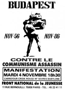 Affiche du FNJ, 1986