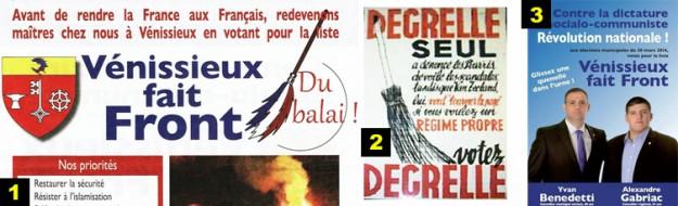 Des références fascistes assumées, ici le fameux balai rexiste de Léon Degrelle.