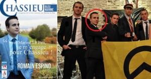 Romain Espino, candidat du RBM et militant de Génération Identitaire et Rebeyne