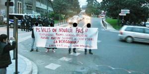 Comité d'accueil lors de la venue de Manuel Valls à Pau