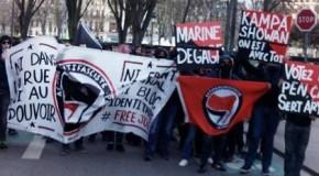 Lille : répression policière à la manif anti-FN du 20 mars