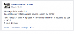 Le RIF, c'est d'abord un business… (Facebook d'In Memoriam)