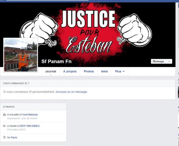 page Antoine soutien esteban