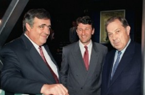 De gauche à droite : Phillippe Seguin, Philippe de Villiers, Charles Pasqua