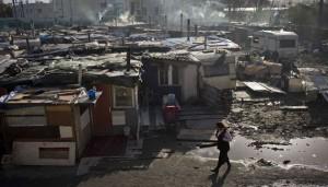 Un bidonville rom à Bobigny, en février 2014.