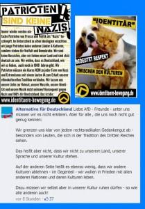 L'AfD n'est pas d'extrême droite, mais n'hésite pas à poster des argumentaires racistes différentialistes sur FB