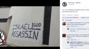 """Lyon : la banderole sur la synagogue était signé """"GUD"""""""