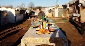 Grigny: destruction du bidonville de la Folie