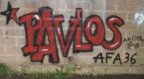 Chateauroux : graf en hommage à Pavlos