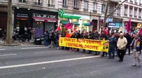 Lyon : quelques images de la manifestation contre le congrès du Front National