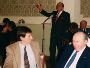 Jan Jambon, l'actuel ministre de l'Intérieur, en 1996 avec Jean-Marie Le Pen.