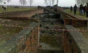 Ce qu'il reste aujourd'hui des chambres d'extermination sur le site d'Auschwitz-Birkenau.