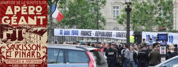 Le mythe et la réalité : effrayés de venir dans un quartier populaire et métissé, nos vaillants islamophobe se réfugient sur les trottoirs des Champs-Élysées…