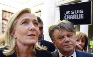 Marine Le Pen à Beaucaire lors du défilé de dimanche