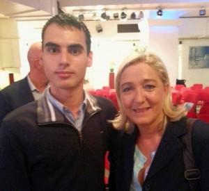 Hervil Legros et Marine Le Pen (source : Twitter)
