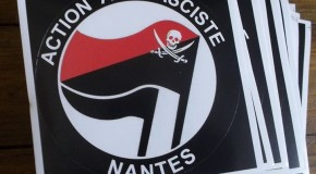 Nantes : nouveaux stickers de l'Action antifasciste