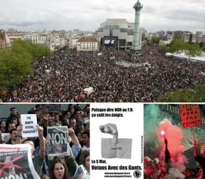 En haut : 400000 personnes le 1er mai à Paris contre le FN. Mais pour dire quoi ?