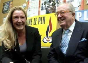 Le Pen père et fille 2004