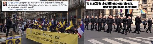 Serge Ayoub s'est gaussé sur Twitter de la manif de l'Action française, qui lui a aussitôt cruellement rappelé que lui-même n'avait mis en son temps dans la rue que deux pelés et trois tondus (enfin surtout des tondus !!)
