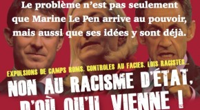 Nouvel autocollant : non au racisme d'État
