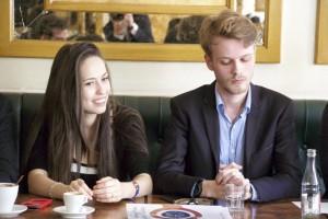 Kelly Betesh et Édouard Marchand, le trésorier de la Cocarde étudiante.