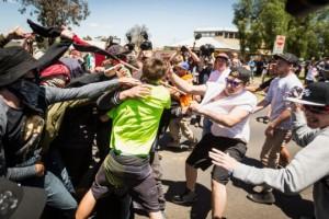À Melton, les antifas repoussent les racistes de RA.