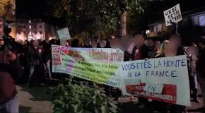 """Auch : Louis Aliot """"accueilli"""" par les antifascistes"""