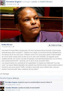 Un exemple de post de Roseline Dagnas