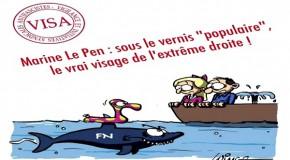 Bretagne : Marine Le Pen passe en coup de vent à Sein, et repart aussi vite