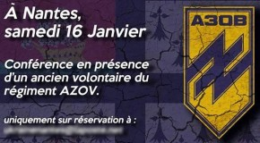 Nantes : conférence annoncée du bataillon Azov le 16 janvier