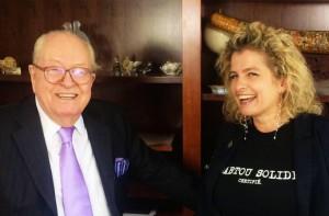 Jean-Marie Le Pen et Marie d'Herbais.