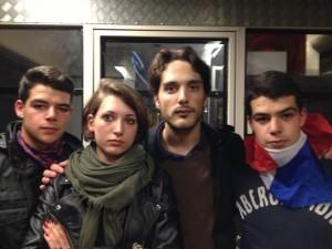 Clothilde Marie-Jeanne et les frères Vidal.